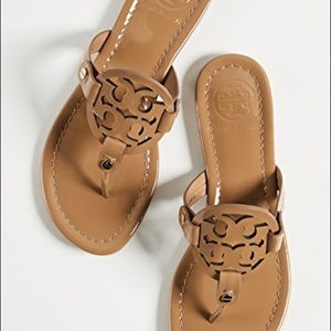 Tory Burch Logo Leather Sandals size 8